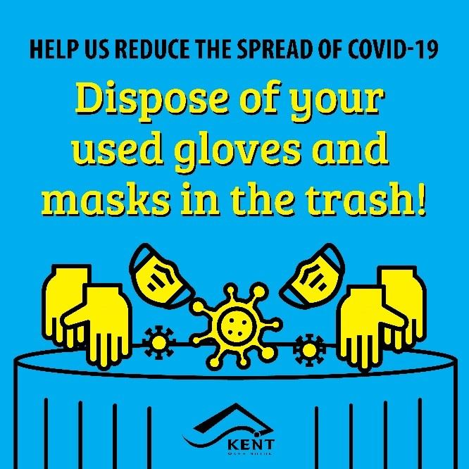 Glove and Mask Disposal - Kent Public Works - 6-12-20 Blog